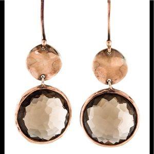 Ippolita Rose Gold and Smokey Quartz Earrings